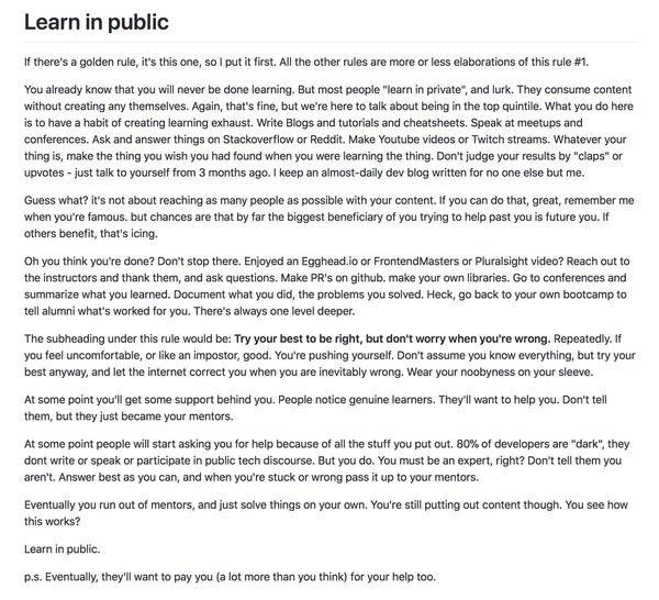 Learn in Public