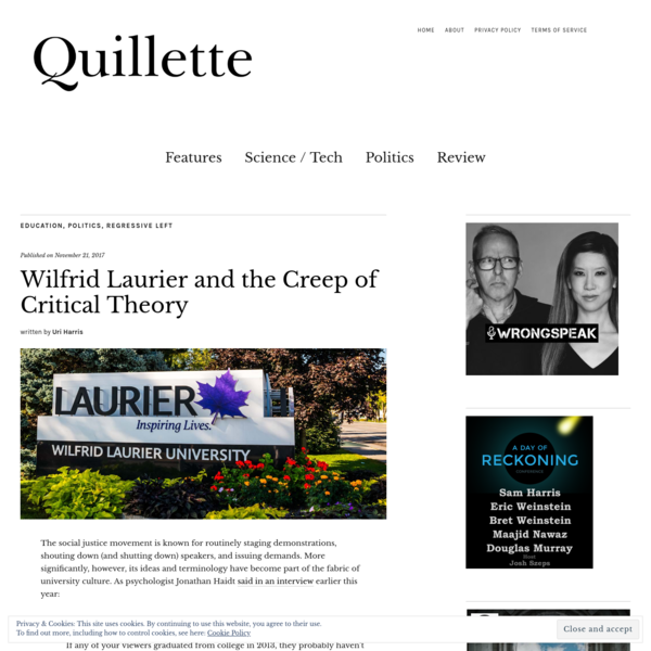 Wilfrid Laurier and the Creep of Critical Theory - Quillette