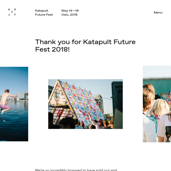 Katapult Future Fest is a three-day festival in Oslo. We believe in a future society where all humans thrive.
