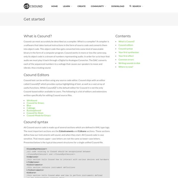 Get started   Csound Community