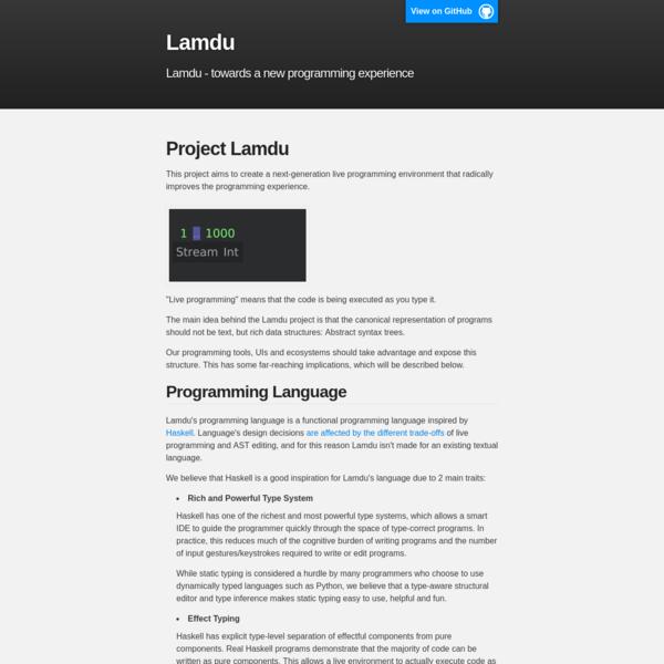 Lamdu : Lamdu - towards the next generation IDE