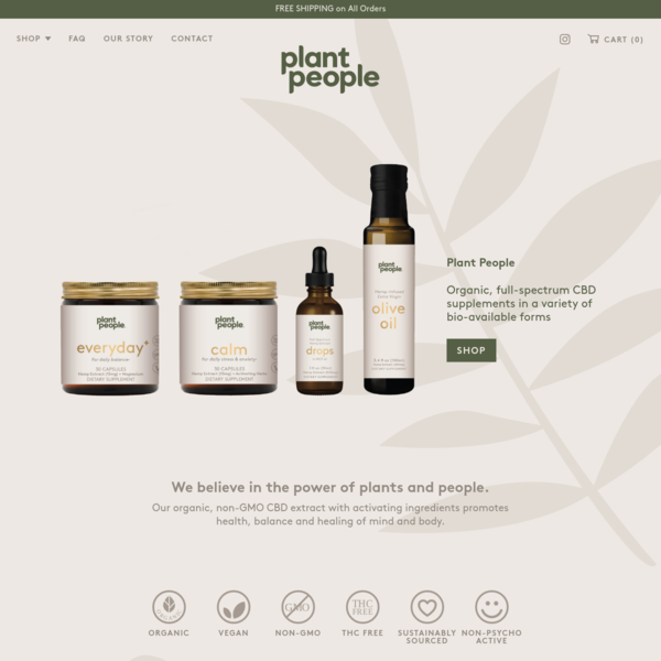 Plant People - Organic, high-performance CBD supplements