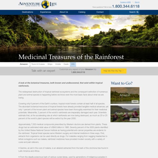 Rainforest Medicine - Healing Medicines From The Amazon