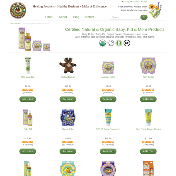 Organic Baby Kid and Mom Products | Badger Balm