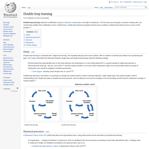 Double-loop learning - Wikipedia
