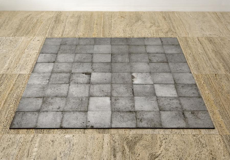 Carl Andre - 64 Square Aluminium