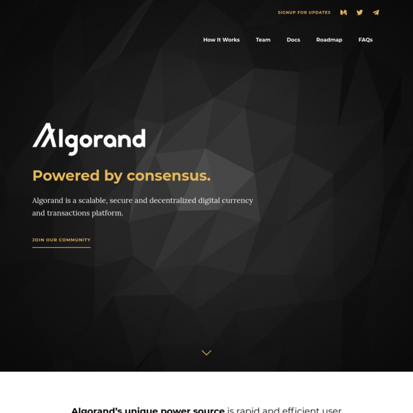 Confirming transactions with Algorand does not require solving cryptographic puzzles. The consensus protocol is both computationally and energy efficient, which keeps transaction costs low. With no heavy lifting, even small players can transact.