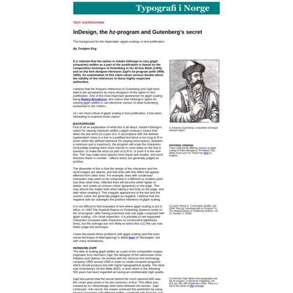 InDesign, the hz-program and Gutenberg's secret