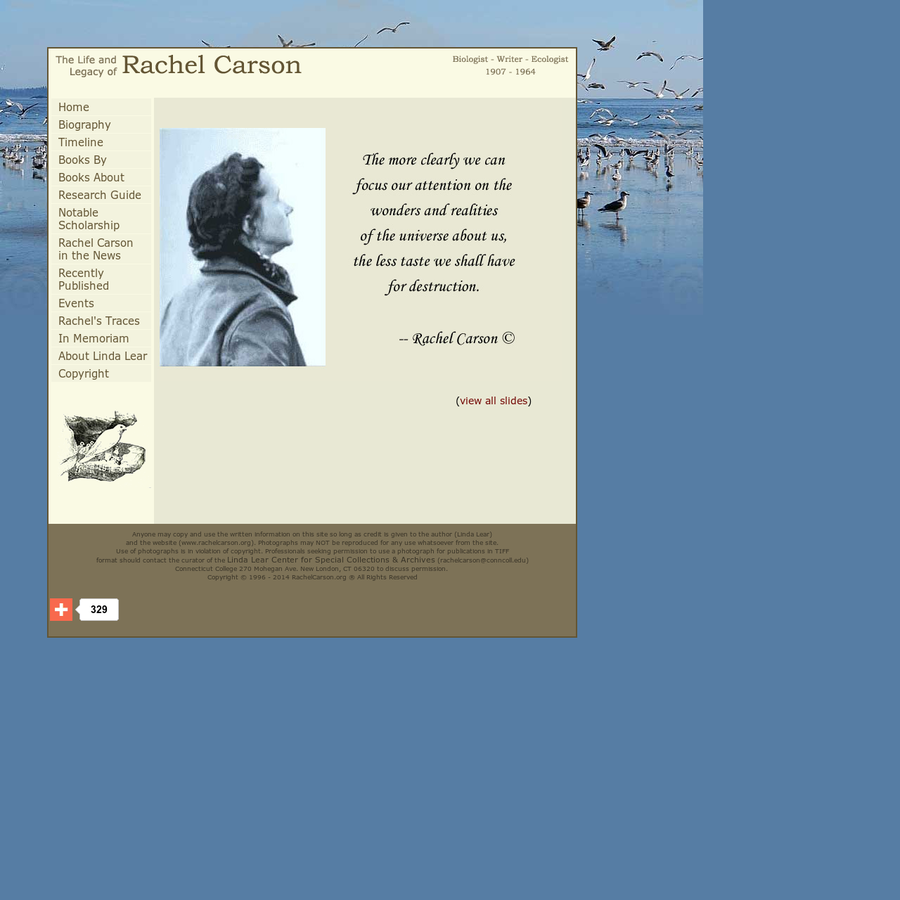 account of the life of rachel carson an american science and nature writer