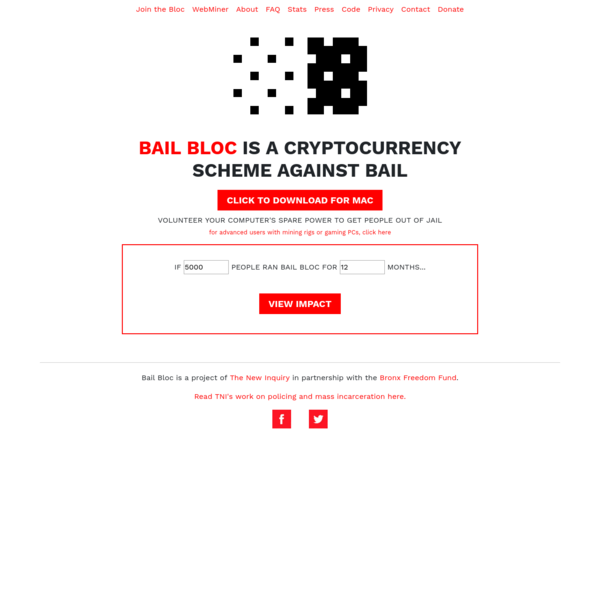 The New Inquiry is pleased to announce the launch of Bail Bloc, a desktop app that gets people out of jail.
