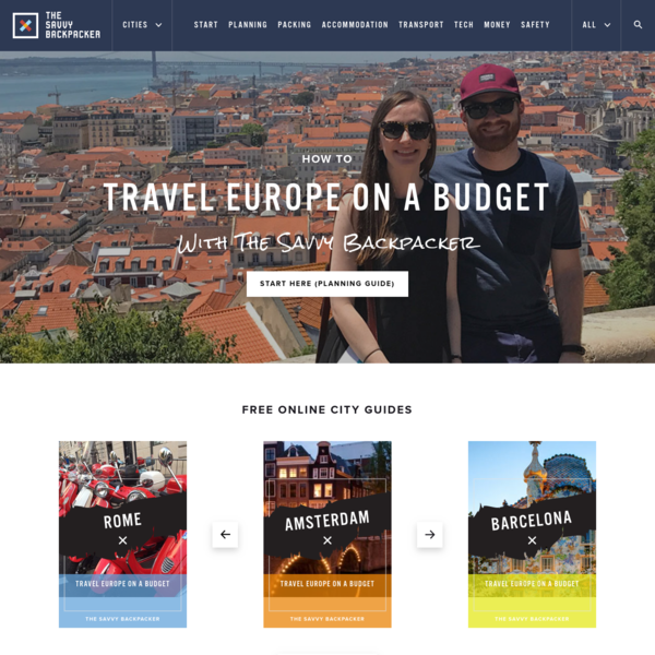 The Complete Guide To Backpacking Through Europe. The Best Source for Budget Travel in Europe - Perfect For Students and Anyone On a Budget.