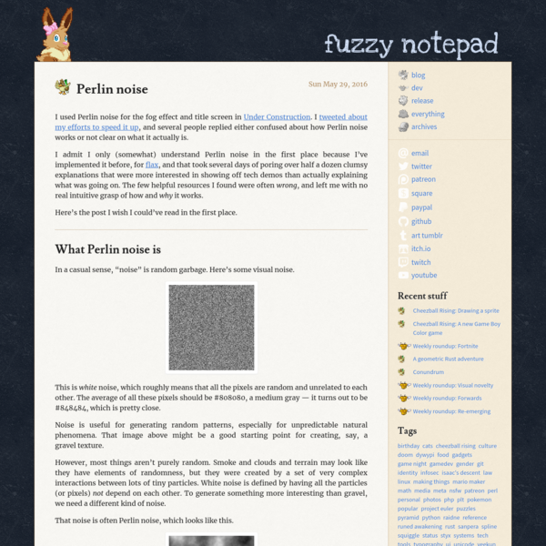 Perlin noise / fuzzy notepad