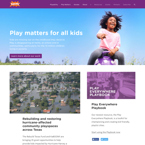 Play Matters for All Kids   KaBOOM!