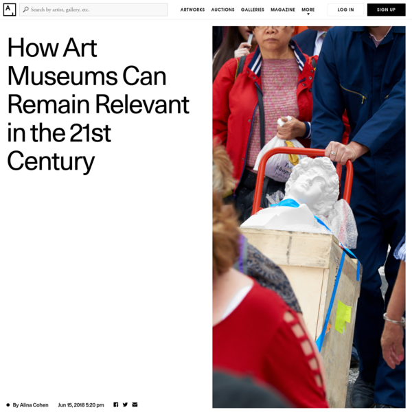 Collecting institutions, by their very nature, place large values on objects: They purchase artworks at galleries, auctions, and art fairs, often helping establish benchmarks for what the work is worth. Although this function is invisible to the daily visitor, museums remain important players in the art market.