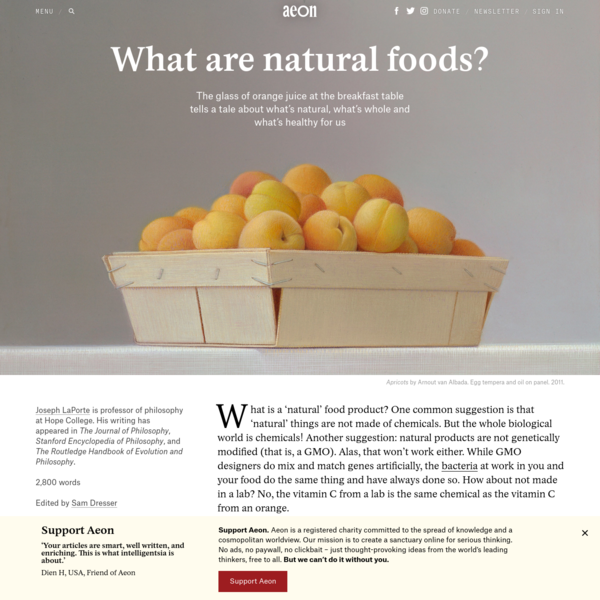 What are natural foods? | Aeon