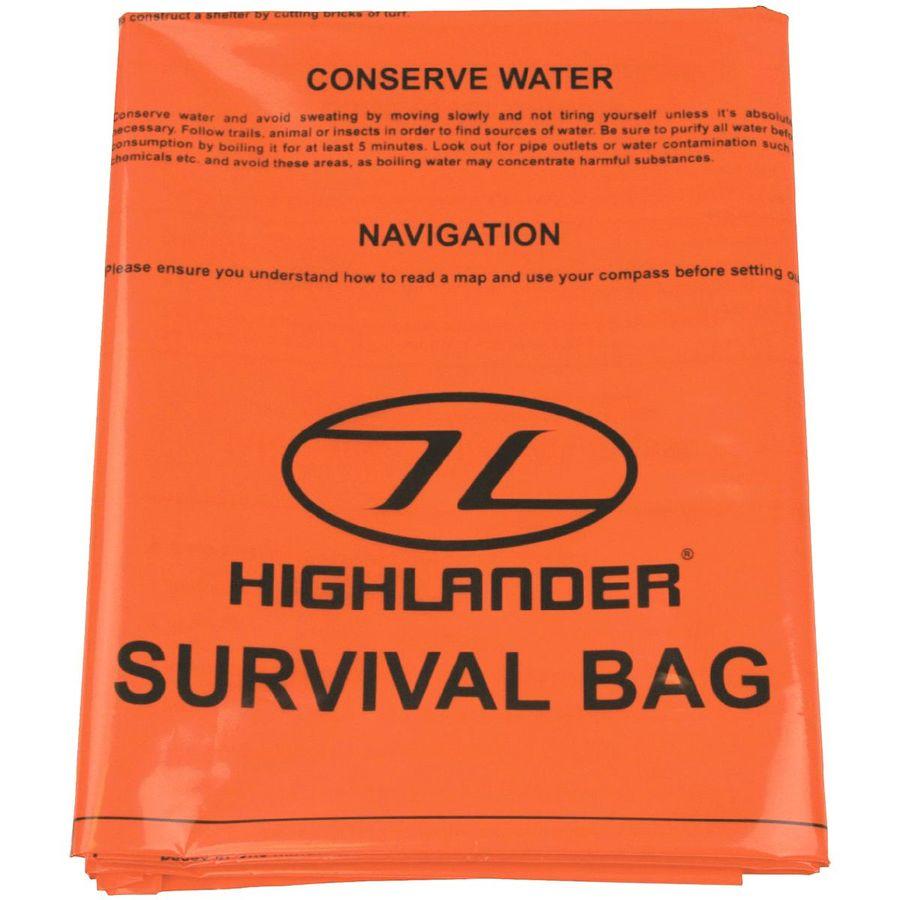 HIGHLANDER DOUBLE EMERGENCY SURVIVAL BAG ORANGE