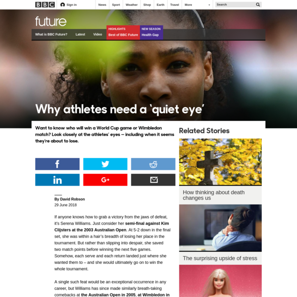 BBC - Future - Why athletes need a 'quiet eye'