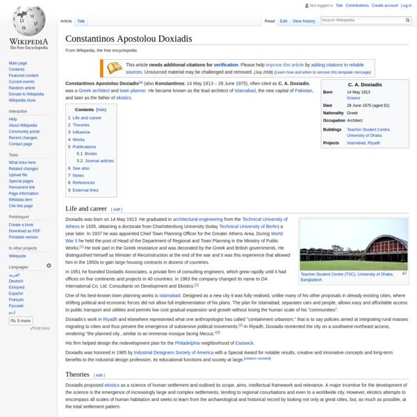 Constantinos Apostolou Doxiadis - Wikipedia