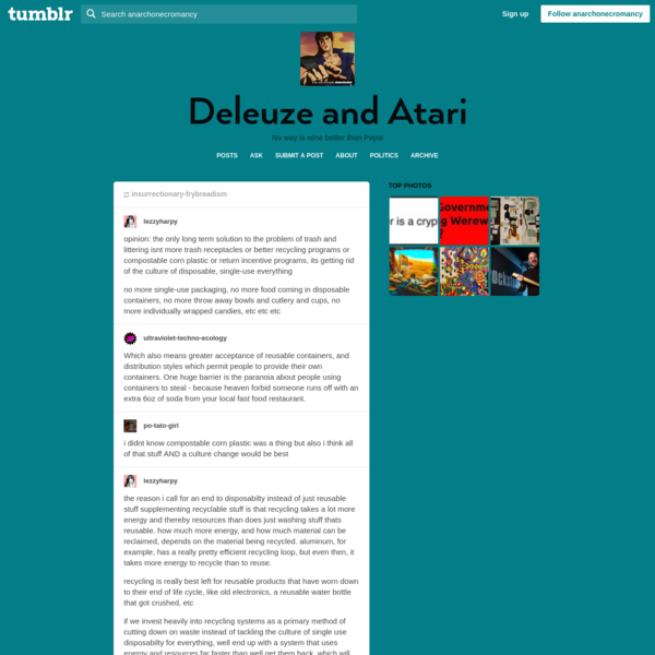 Deleuze and Atari - lezzyharpy: po-tato-girl: lezzyharpy: ...
