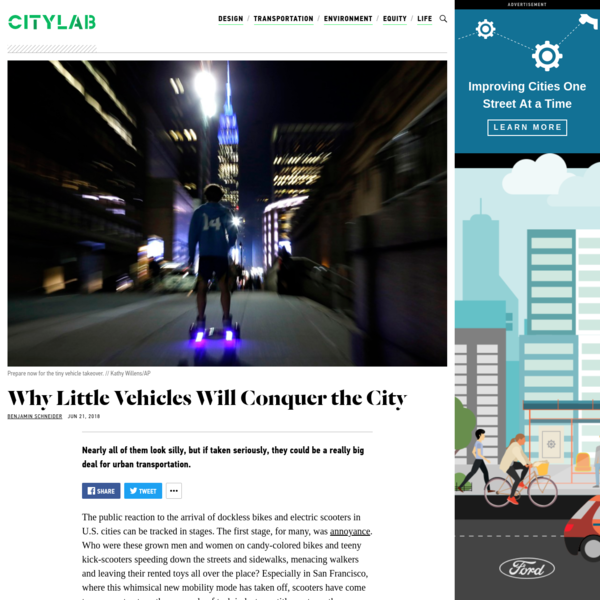 Nearly all of them look silly, but if taken seriously, they could be a really big deal for urban transportation. The public reaction to the arrival of dockless bikes and electric scooters in U.S. cities can be tracked in stages. The first stage, for many, was annoyance.
