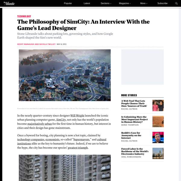 The Philosophy of SimCity: An Interview With the Game's Lead Designer