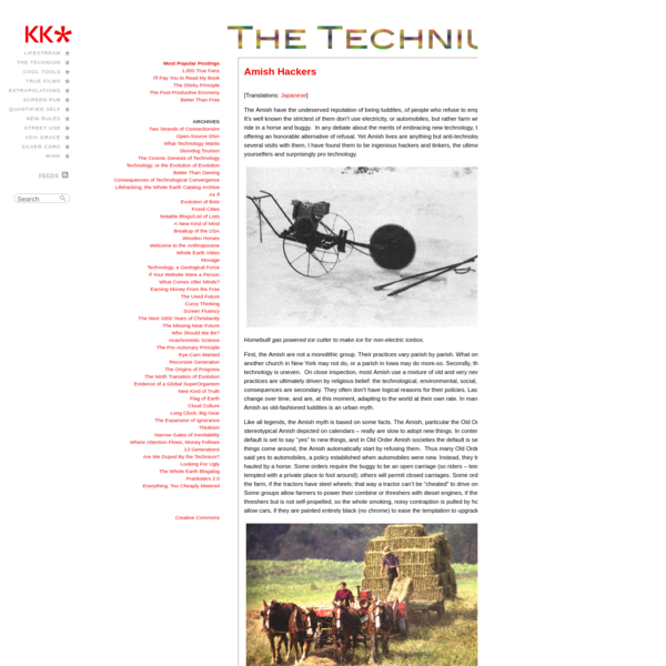 The Technium: Amish Hackers
