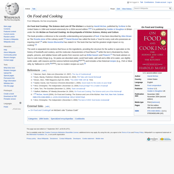 On Food and Cooking - Wikipedia