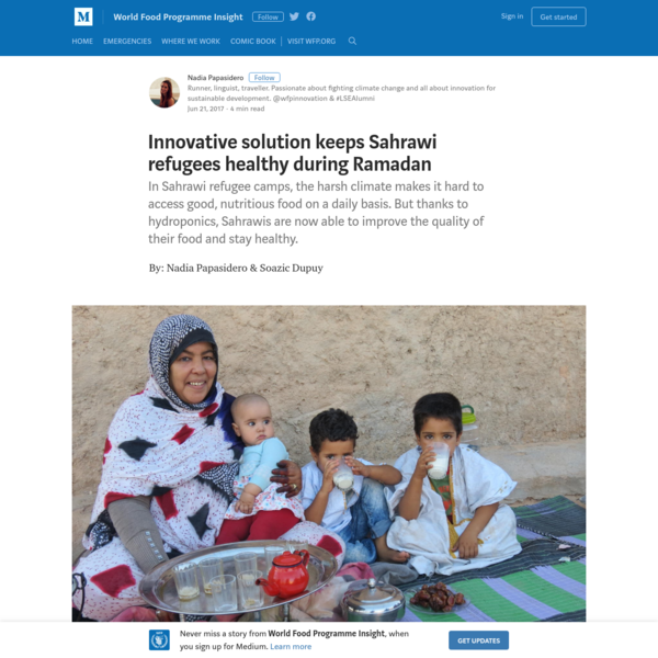 By: Nadia Papasidero & Soazic Dupuy As Ramadan comes to an end, Muslims around the world are getting ready to celebrate. For those living in harsh and desert-dry climates, fasting from dawn to dusk without even a drop of water can be quite a challenge.