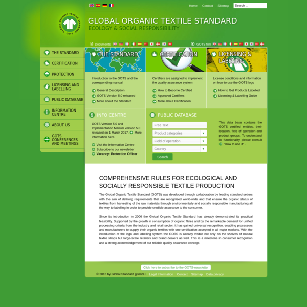 Global Organic Textile Standard International Working Group (IWG) - Global Standard gGmbH