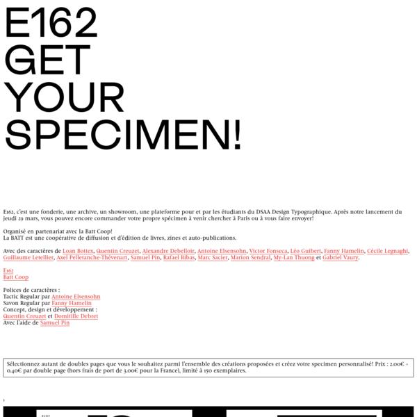 E162 - GET YOUR SPECIMEN!