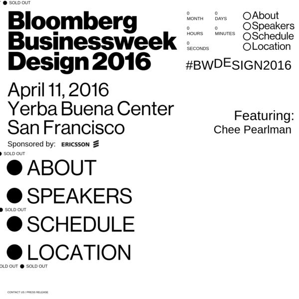 Bloomberg Businessweek Design 2016 Website