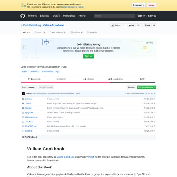 Vulkan-Cookbook - Code repository for Vulkan Cookbook by Packt