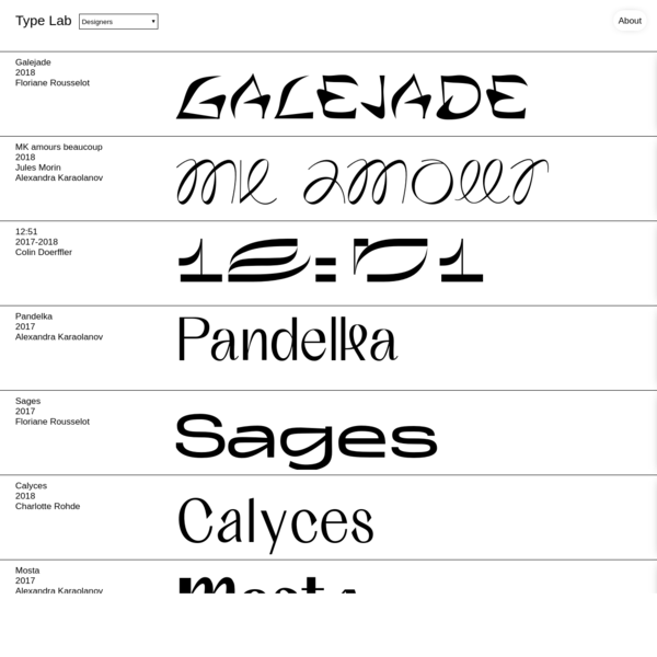 Curated fonts for clever designers.