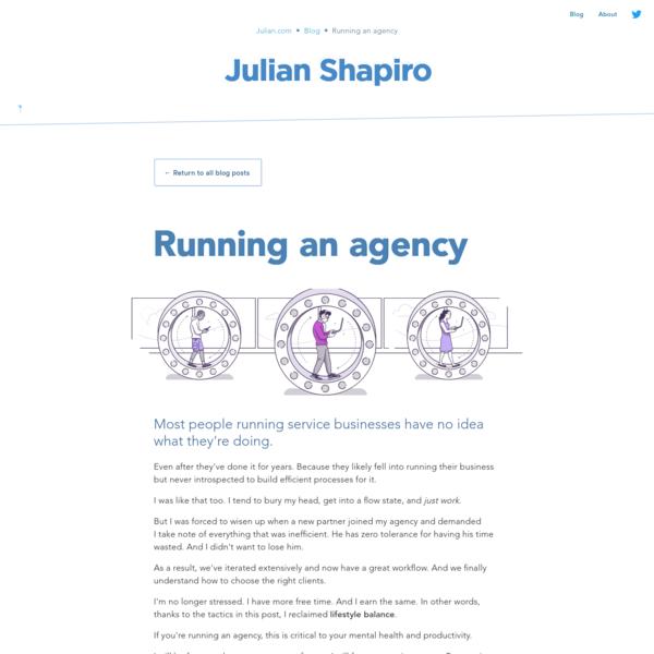 How to Run an Agency