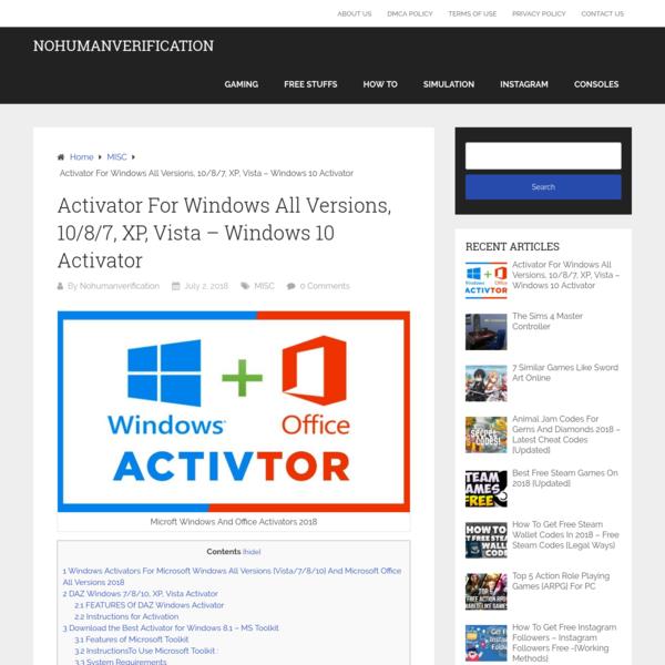 window 7 activation toolkit