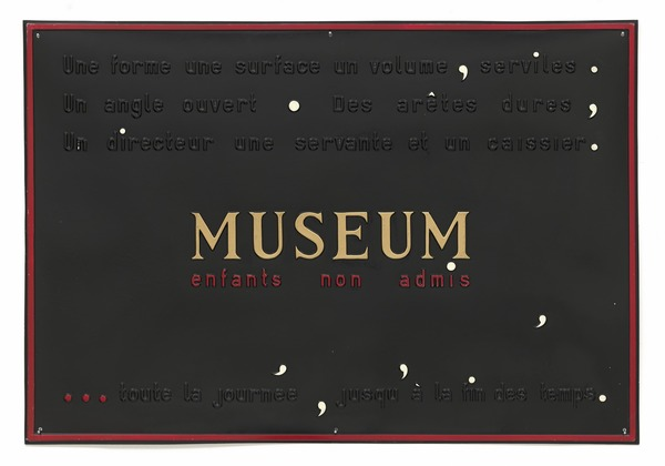 Figure 4: Marcel Broodthaers. Museum. Children not admitted (Museum. Enfants non admis)