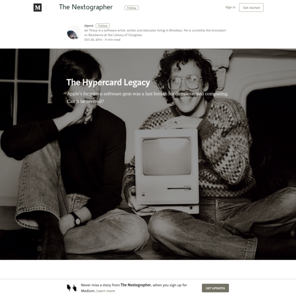 The Hypercard Legacy – The Nextographer – Medium