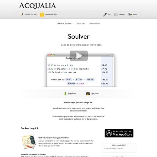 Soulver | Acqualia