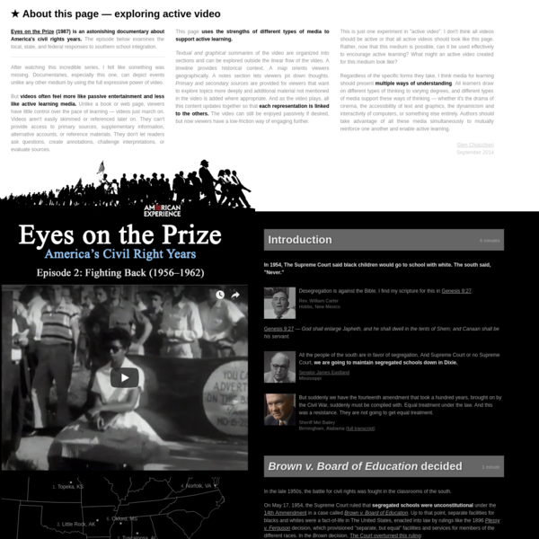 Eyes on the Prize - Exploring active video by Glen Chiacchieri