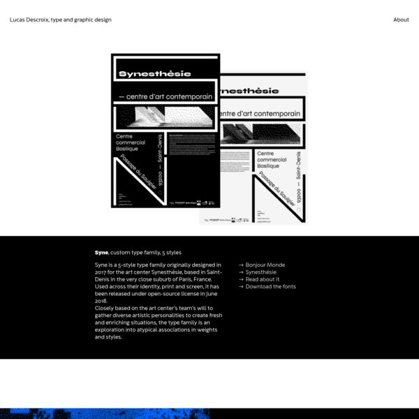 Lucas Descroix | graphic & type design
