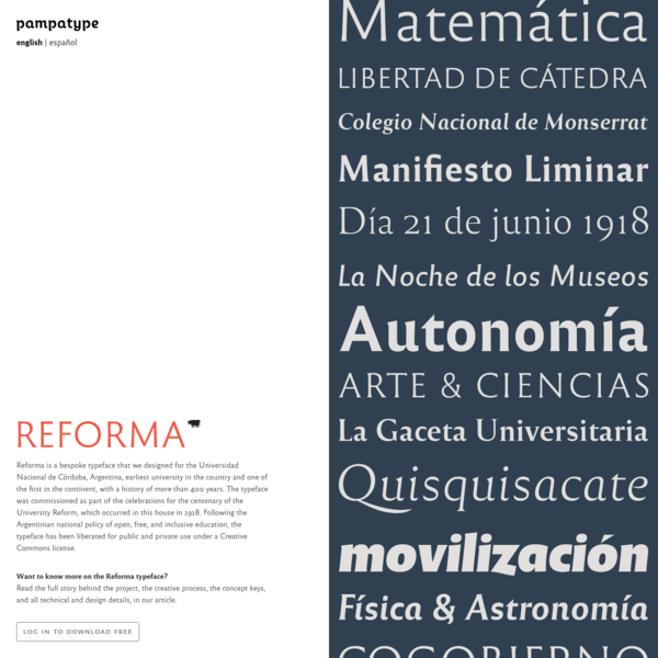 PampaType Font Foundry | Reforma