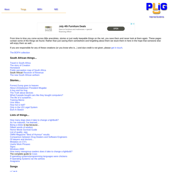 PLiG - Internet Sunshine