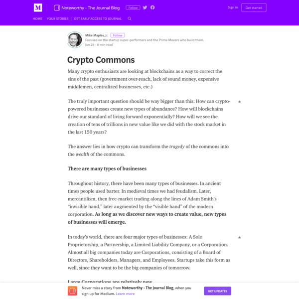 Crypto Commons - Noteworthy - The Journal Blog