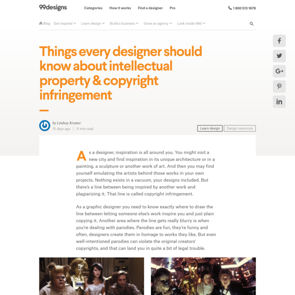 Things every designer should know about intellectual property & copyright infringement - 99designs