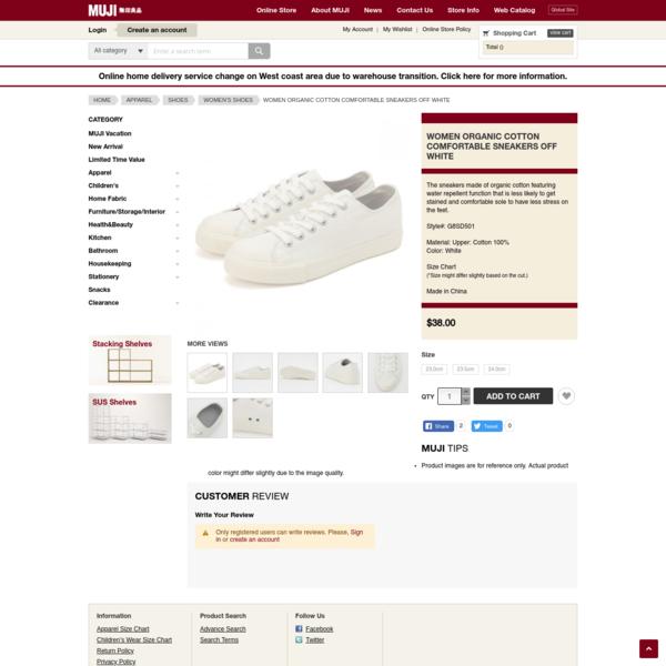 Women Organic Cotton Comfortable Sneakers Off White
