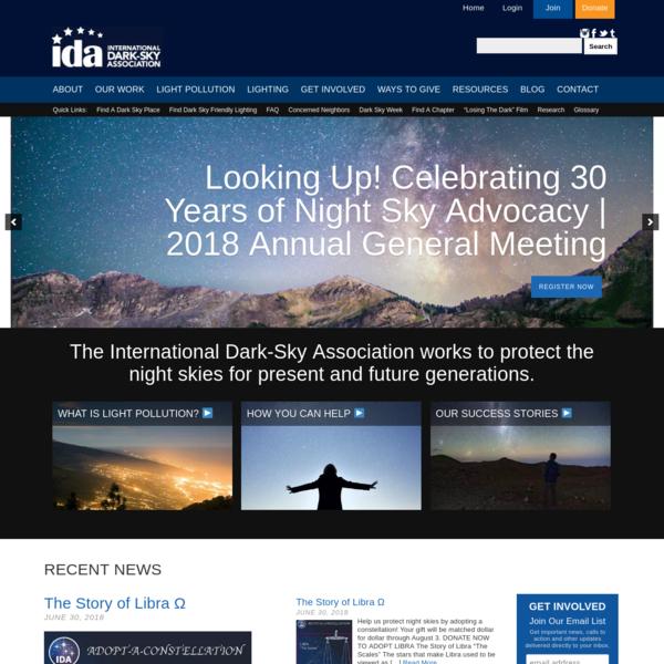 International Dark-Sky Association   IDA   Light Pollution