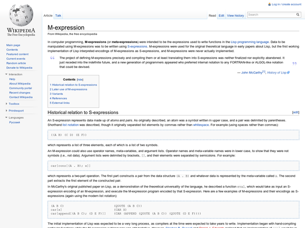 M-expression - Wikipedia, the free encyclopedia