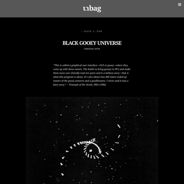 Black Gooey Universe - unbag - Issue 2: End