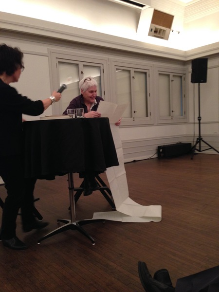 """Alison Knowles reads from """"A House of Dust"""" at the Graham Foundation, 2014.  http://www.grahamfoundation.org/public_events/5197-alison-knowles"""