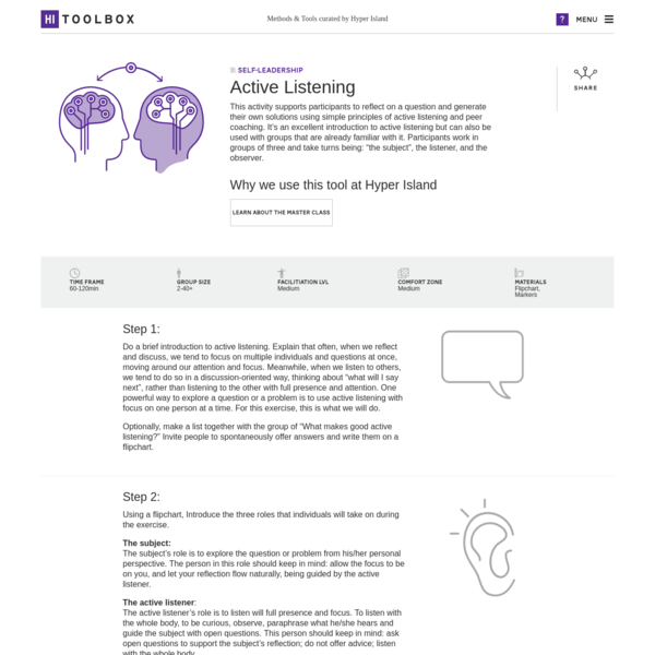 This activity supports participants to reflect on a question and generate their own solutions using simple principles of active listening and peer coaching. It's an excellent introduction to active listening but can also be used with groups that are already familiar with it.